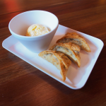 Nutella Gyoza with Vanilla Ice Cream